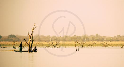 Carte postale du Burkina Faso, Lac de Kompienga